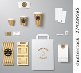coffee shop corporate identity... | Shutterstock .eps vector #274239263
