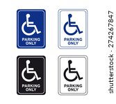 Handicap Sign Vector Set