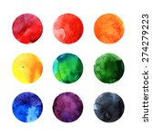 colorful watercolor  circles | Shutterstock . vector #274279223
