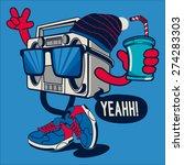 cool radio character vector... | Shutterstock .eps vector #274283303