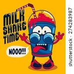 funny milkshake character... | Shutterstock .eps vector #274283987