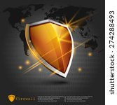 firewall shield | Shutterstock .eps vector #274288493
