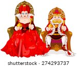 illustration of queen and king | Shutterstock .eps vector #274293737