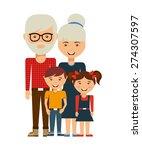 happy family design  vector... | Shutterstock .eps vector #274307597