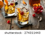 homemade old fashioned cocktail ... | Shutterstock . vector #274311443