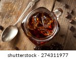homemade cold brew coffee to...   Shutterstock . vector #274311977