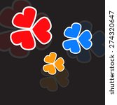 colorful clover leaves | Shutterstock .eps vector #274320647