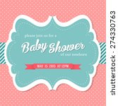 baby shower invitation card in... | Shutterstock .eps vector #274330763