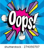"pop art comics icon ""oops ""...."