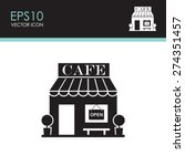 cafe vector icon. | Shutterstock .eps vector #274351457