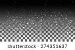 falling snow on a transparent... | Shutterstock .eps vector #274351637