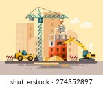 construction site  building a... | Shutterstock .eps vector #274352897