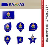 Kansas Flag Set  Us State  Fla...