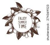 ink hand drawn frangipani ... | Shutterstock .eps vector #274369523