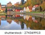 vltava river reflecting... | Shutterstock . vector #274369913
