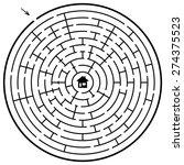 A Round Maze   Vector...