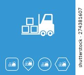 fork lift icon on flat ui...