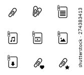 paperclip file icons on white...