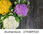 rainbow of organic cauliflower... | Shutterstock . vector #274389533