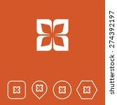 design element icon on flat ui...