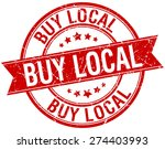 buy local grunge retro red... | Shutterstock .eps vector #274403993