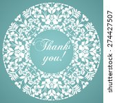 Thank You Postcard. Floral...