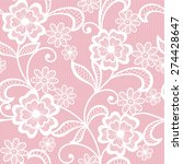 seamless  abstract lace  floral ... | Shutterstock .eps vector #274428647