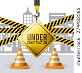 under construction design over... | Shutterstock .eps vector #274432583