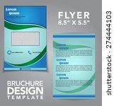flyer brochure vector design | Shutterstock .eps vector #274444103