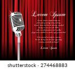 vintage metal microphone... | Shutterstock .eps vector #274468883