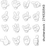 cartoon collection of hand sign | Shutterstock . vector #274520543