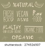 raw vegan badges. vector hand... | Shutterstock .eps vector #274526507