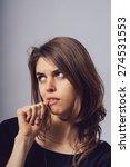 girl bites his nails | Shutterstock . vector #274531553