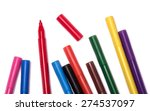 colorful markers | Shutterstock . vector #274537097