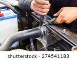 close up motor vehicle mechanic ... | Shutterstock . vector #274541183