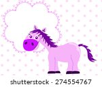 pink princess horse with blank... | Shutterstock .eps vector #274554767