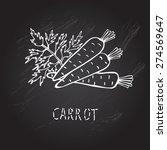 hand drawn decorative carrots   ... | Shutterstock .eps vector #274569647