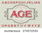"vintage font ""the age of... 