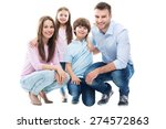 happy family with two kids | Shutterstock . vector #274572863
