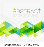 Abstract geometric background. Modern overlapping triangles. Unusual color shapes for your message. Business or tech presentation, app cover template | Shutterstock vector #274575947