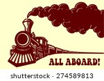 All Aboard  Vintage Steam Trai...