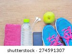 sport shoes and water with set...   Shutterstock . vector #274591307