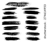 set of hand drawn grunge brush... | Shutterstock .eps vector #274614953