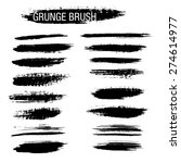 set of hand drawn grunge brush... | Shutterstock .eps vector #274614977