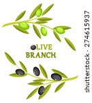 olive branch wreath | Shutterstock . vector #274615937