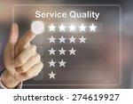 business hand clicking service... | Shutterstock . vector #274619927