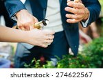 close up of human hands holding ... | Shutterstock . vector #274622567
