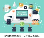 flat modern icons for cloud... | Shutterstock .eps vector #274625303
