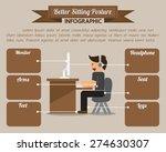 better sitting posture... | Shutterstock .eps vector #274630307