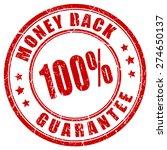 money back 100 guarantee stamp   Shutterstock .eps vector #274650137